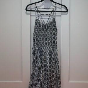 Xhilaration Printed Triangle Back Mini Dress
